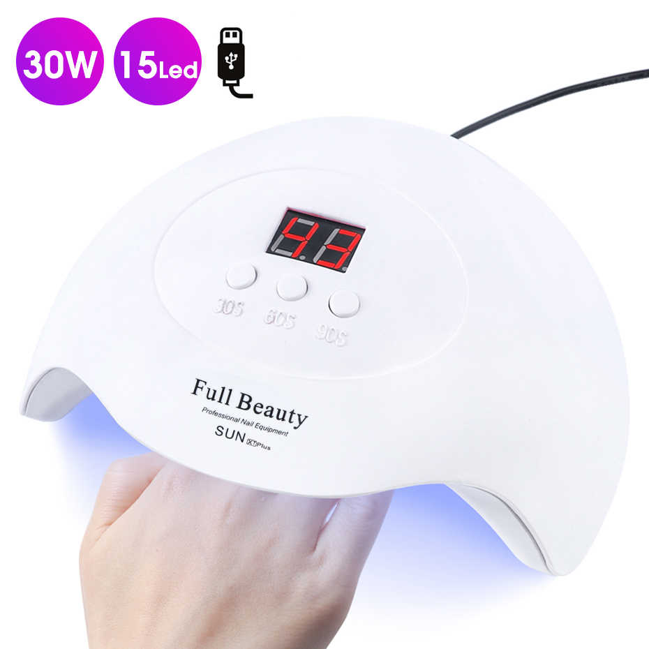 Pro UV lámpara LED para secado de uñas para todos los esmalte de Gel USB Lámpara portátil luz del sol secado rápido sincronización inteligente Nail Art Equipment BESUNX7Plus