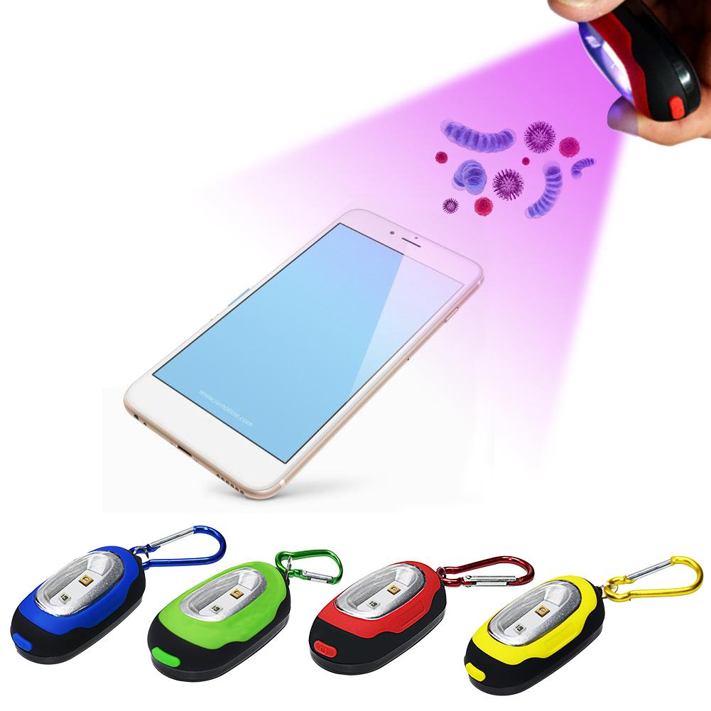Portable Mini Keychain UVC270nm Germicidal Lamp Luggage UV Sterilization Lamp No Contact Disinfection Light For Kids Adults