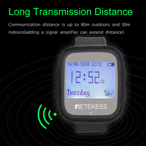 Image 4 - Retekess Restaurant Calling System TD106 2pcs Watch Receivers  Wireless Pager Cafe Office Restaurant Equipment Service F9453