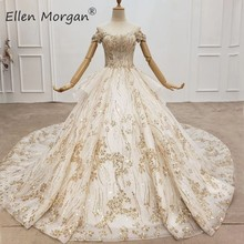 Elegant Off the Shoulder Ball Gowns Lace Wedding Dresses 2020 Real Photos Beaded Lace Modest Elegant Bridal Gowns for Women