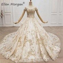 Elegante fora do ombro vestidos de baile rendas vestidos de casamento 2020 fotos reais frisado rendas modesto elegante vestidos de noiva para mulher