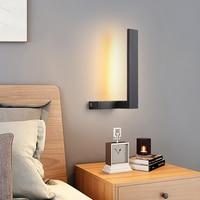300x150mm 10 w moderno led lâmpada de parede cabeceira cor branca ou preta led luzes de parede para o quarto sala estar corredor arandela