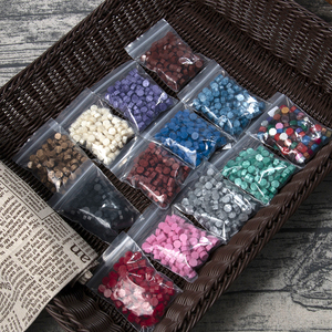Image 5 - 100Pcs/Lot Retro Stamping Sealing Wax Colorful Beads Wax Seal Stamps for Envelope Documents Wedding Birthday Party Invitation