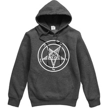 Pentagram Gothic Occult Satan New Mens Fashion Hoodies High Quality All-match Male Pullover Brand Clothing Harajuku Tops