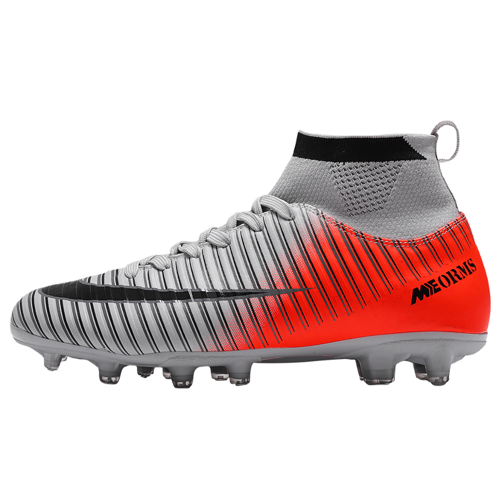 חיצוני גברים בני כדורגל נעלי כדורגל מגפיים גבוה קרסול ילדים סוליות אימון ספורט נעלי ספורט גודל 35-45 Dropshipping