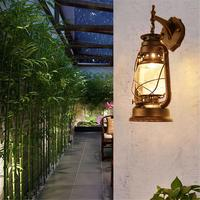 38cm 1 Pc LED Retro Wall Lamp Antique Glass Industrial Wall Light Decoration For Bar Cafe Shop