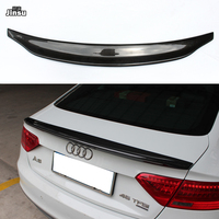 For Audi A5 Spoiler 2007 2016 A5 CA styling Real Carbon Fiber Rear Spoiler Caractere Style Rear Trunk Wing 2door Coupe