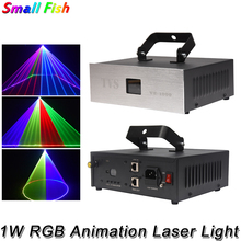 1 واط RGB 3IN1 ليزر الرسوم المتحركة ضوء DMX 512 تحكم الليزر خط الماسح الضوئي مرحلة الإضاءة تأثير جهاز عرض ليزر إضاءات دي جي بار ديسكو