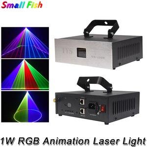 Image 1 - 1 ワット rgb 3IN1 アニメーションレーザーライト dmx 512 コントローラレーザーラインスキャナー舞台照明効果レーザープロジェクターパーティーの dj ライトバーディスコ