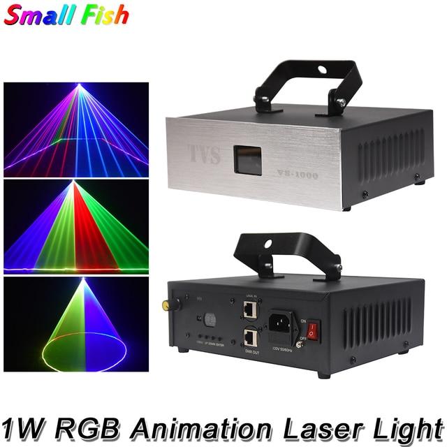 1 ワット rgb 3IN1 アニメーションレーザーライト dmx 512 コントローラレーザーラインスキャナー舞台照明効果レーザープロジェクターパーティーの dj ライトバーディスコ