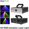 1W RGB 3w1 Laser animacyjny DMX 512 kontroler liniowy wskaźnik laserowy skaner efekt oświetlenia scenicznego projektor laserowy oświetlenie DJ Bar Disco