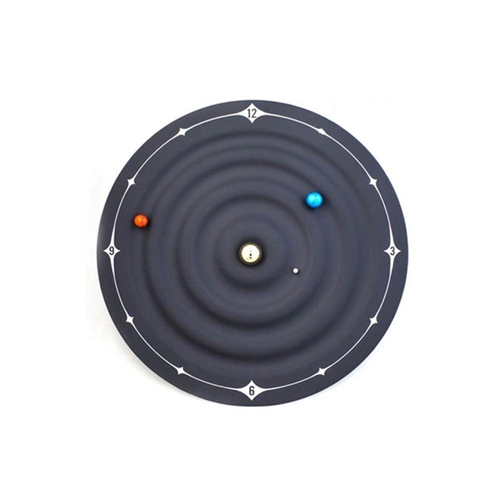 Novelty Special Rubber Coated Hidden Motor Magnets Galaxy Magnetic Clock Galaxy Magnetic Clock Wall Clock