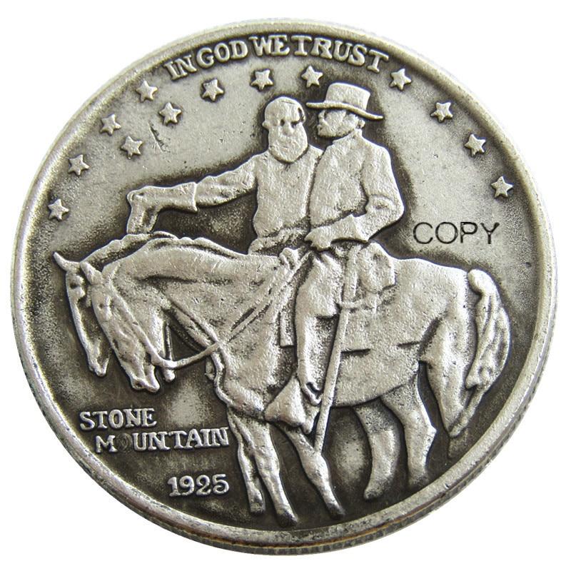 USA 1925 Stone Mountain Half  Dollar Copy Coins Silver Plated