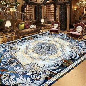 Image 2 - beibehang tile custom European style marble carpet pattern 3d floor tiles self adhesive wallpaper vinyl flooring waterproof