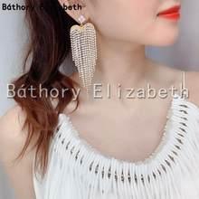 Grands pendentifs en forme de cœur de diamant pour femmes, accessoires de collection, à la mode, brillants