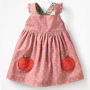 Little maven kids brand clothes 2019 autumn baby girls clothes Cotton FRUIT ANIMAL applique dot sundress girl sleeveless dresses(China)