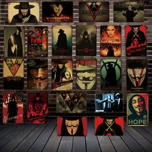 [ Mike86 ] V for vendetta Movie Metal Poster Vintage  Pub Store Retro Classic Painting art Art 20*30 CM LT-1781