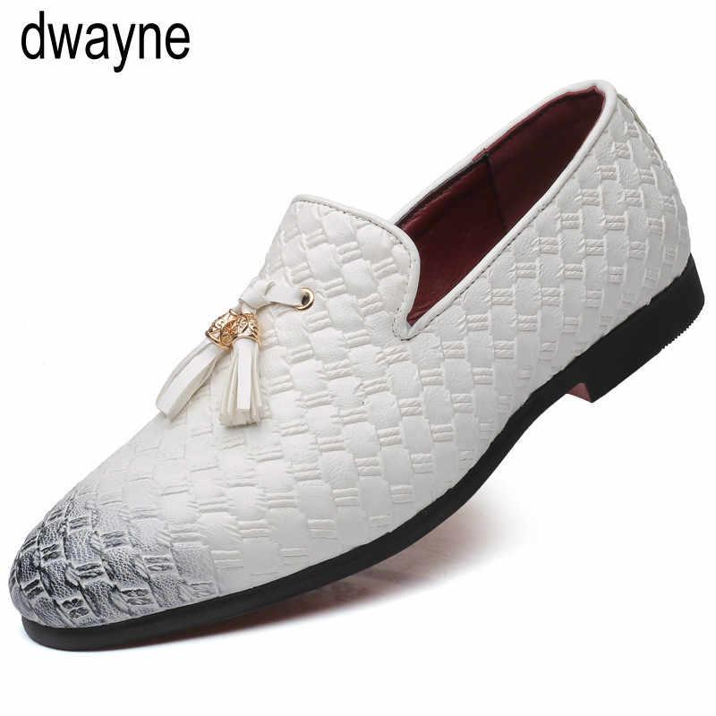 高級ブランドタッ靴男性ローファーイタリアの結婚式の靴男性ドレス新着革靴男性エレガントな ayakkabi 785