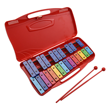 25 Notes Glockenspiel Xylophone Hand Knock Xylophone Percussion Rhythm Musical Educational Teaching Instrument Toy 2 Mallets
