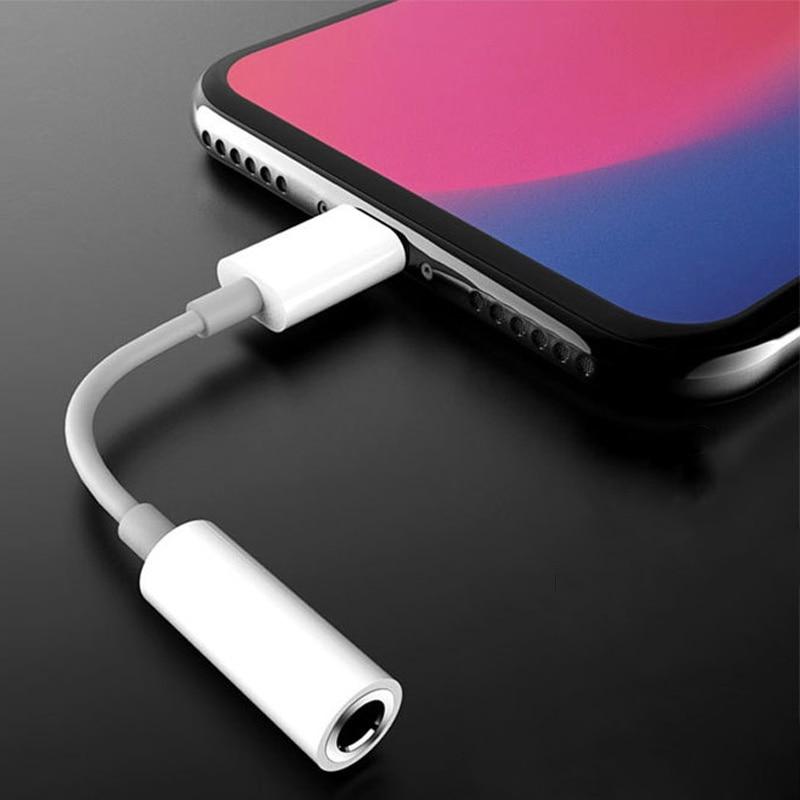 Для осветления до 3,5 мм разъем для наушников адаптер для iPhone 12 11 Pro Max XS XR X Адаптеры для подключения к разъему AUX аудио конвертер