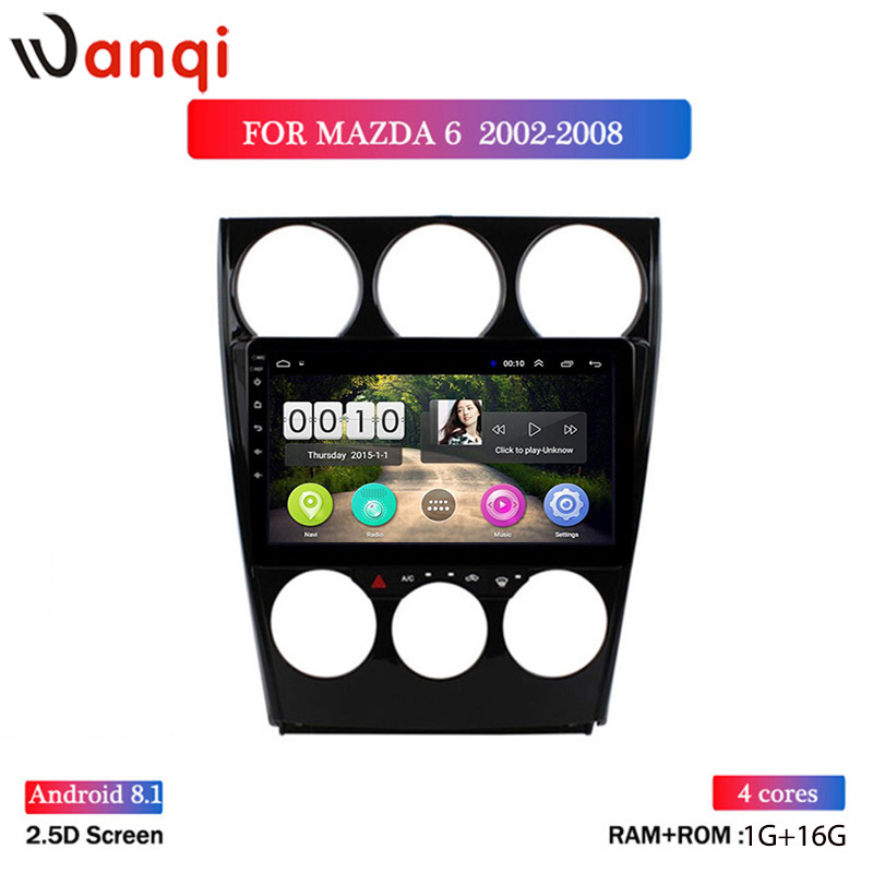 1G RAM 16G ROM 9 inch Android 8.1 HD Touchscreen Multimedia Player for 2002-2008 Old <font><b>Mazda</b></font> <font><b>6</b></font> <font><b>GPS</b></font> <font><b>Navigation</b></font> image