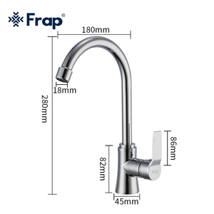 Frap Kitchen Faucet 360 Degree Swivel Solid Brass Kitchen Mixer Cold and Hot Kitchen Tap Single Hole Water Tap F40563
