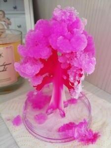 Toy Decorative Paper-Tree Flower-Exploring Gift Visual Growing Artificial-Sakura-Trees