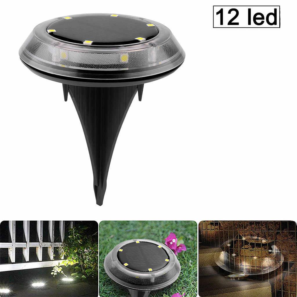 Lumière solaire maison jardin lampe au sol énergie solaire lumières au sol plus récent 12 éclairage extérieur étanche à LED disque solaire lumières solaire Gar