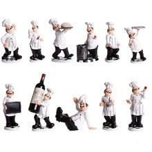 Figurine de Chef décoratif français, décoration de maison en résine 3D, pour décoration de cuisine gastronomique et pendaison de crémaillère à collectionner