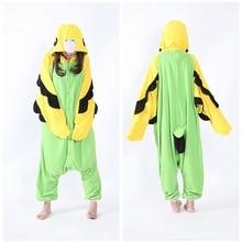 Pajamas Onesies-Costumes Monokuma Kigurumi Shark Parrot Cosplay Green Women Jumpsuits