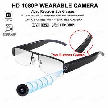 Full or Half Frame Smart Glasses Camcorder HD 1080P Mini Glasses Camera OTG UVC USB Video Camera Driving Video Recorder Mini DV