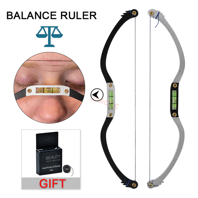 Mapping String Ruler Microblading eyebrow Brow Bow Arrow Line Ruler mapping Brow with mapping thread  positing Tattoo Accesories 1