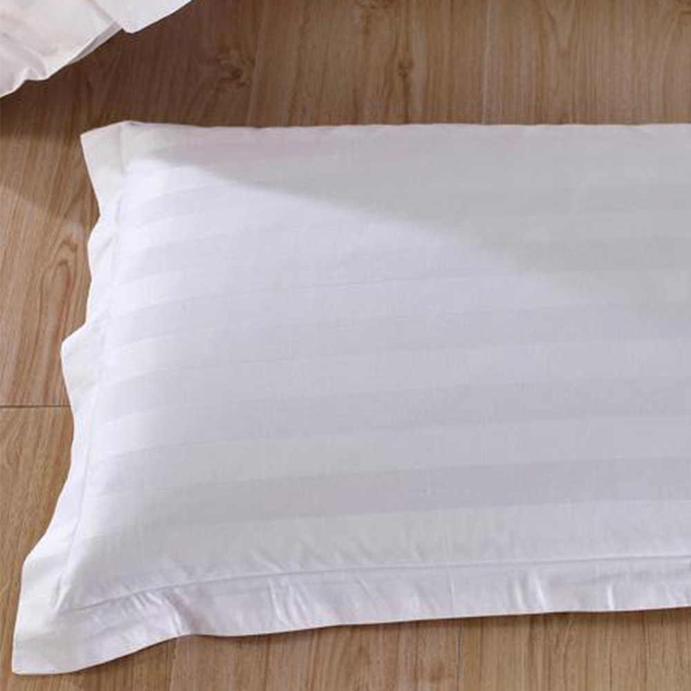 50*80/58*88 Cm Perlengkapan Rumah Seprai Katun Murni Putih Enkripsi Sarung Bantal Satin Sarung Bantal