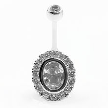 925 sterling silver belly piercing fashion cubic zircon navel belly button rings for women(China)
