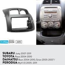 Painel de rádio do carro para subaru justy 2007-2011/toyota passo 2004-2010 kit traço instalar placa console moldura adaptador capa