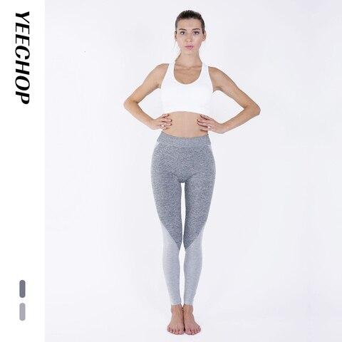 Yeechop Women Workout Seamless Leggings Push Up Fitness Leggings Female Fashion Patchwork Mujer S -XL Leggings Yoga Sport Pants Karachi