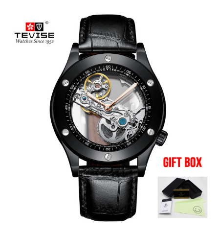TEVISE Men Watches Top Brand Luxury Skeleton Automatic Mechanical Watch For Male Auto Winding Tourbillon Watch   Fotoflaco.net