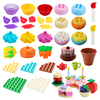 Big Building Blocks Accessories Compatible Large Bricks Birthday Series Cakes Candle Boy Girl Educational Toy Children Kid Gifts