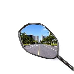Image 5 - 8mm 10mm Universal Elektrische Motorrad Rückspiegel, Für SUZUKI Haojue EQ ER HJ125T 18G 18H, rückansicht Spiegel Rückseite