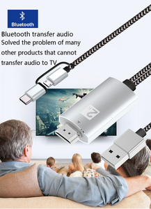 Image 2 - 2K Bluetooth Audio Type C Micro USB HDMI Cable HDTV Adapter For Huawei Mate 20 P9 Samsung S10 S9 S8 Note 8 9 Android Phone to TV