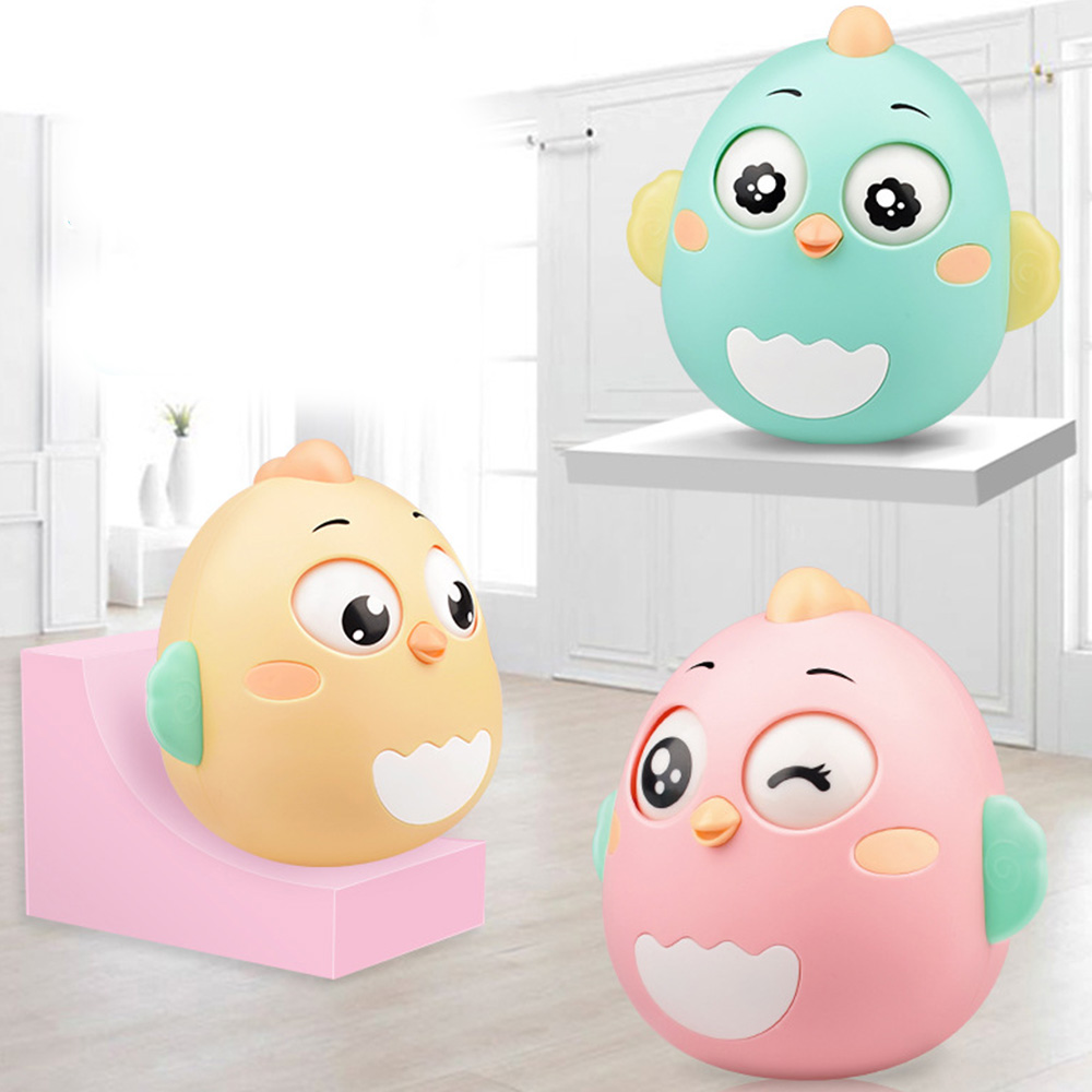 Newborn Baby Creative Tumbler Cute Doll Toy Teether Bell Rattles Cartoon Educational Toys For Children Kids