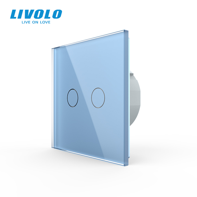 Livolo Wall Light Touch Switch With Crystal Glass Panel,colorful switch,led indicator light,universal wall switches