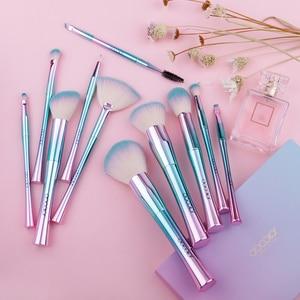 Image 3 - Docolor 11PCS Makeup Brushes set Best Christmas Gift  Powder Foundation Eyeshadow Make Up Brushes Cosmetic Soft Synthetic Hair