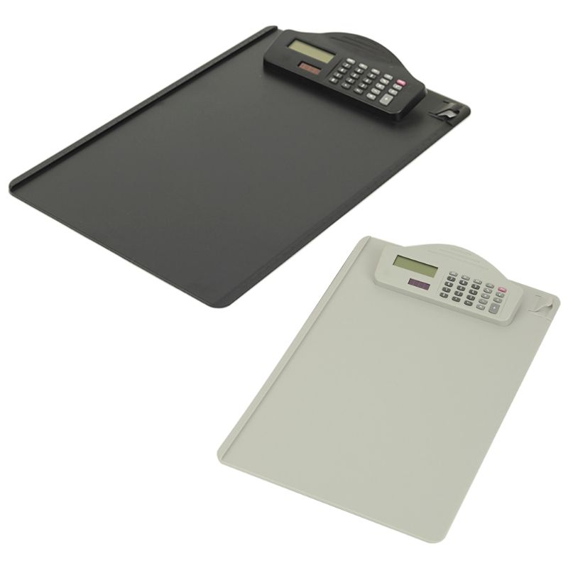 Plastic A4 Clipboard With Calculator Writing Pad File Folders Document Holder
