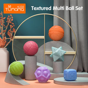Baby Toys Massage-Ball Rubber Hand-Training Tumama Senses-Toy Touch 6-12PCS Textured