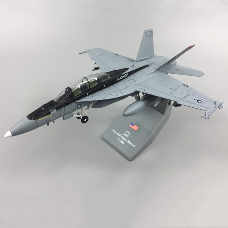 19CM 1:100 Scale F18 F-18 F/A-18 Boeing Hornet Multirole Fighter USA Army Air Force Diecast Plane Model Collection Kids Gift image