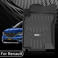 3W full TPE floor mats Renault 2019 Koleos Kadjar Special car mats Waterproof and odorfree Auto Anti Slip Mat carpet liners
