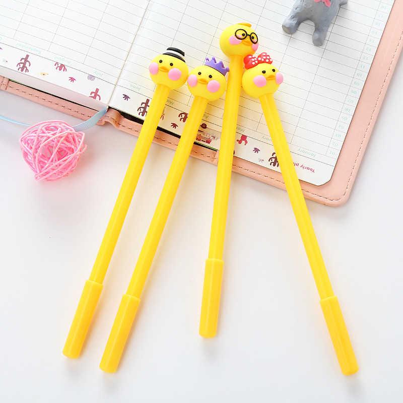 1 pcs Stationery Cartoon Cute Cat Gel Pen Creative School Supply Office Christmas Gift Handles Kawaii Pen Christmas Novelty Pens