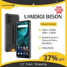 Umidigi bison smartphone android 10 nfc 6/8gb + 128gb ip68/ip69k impermeável robusto telefone 48mp matriz quad câmera 6.3