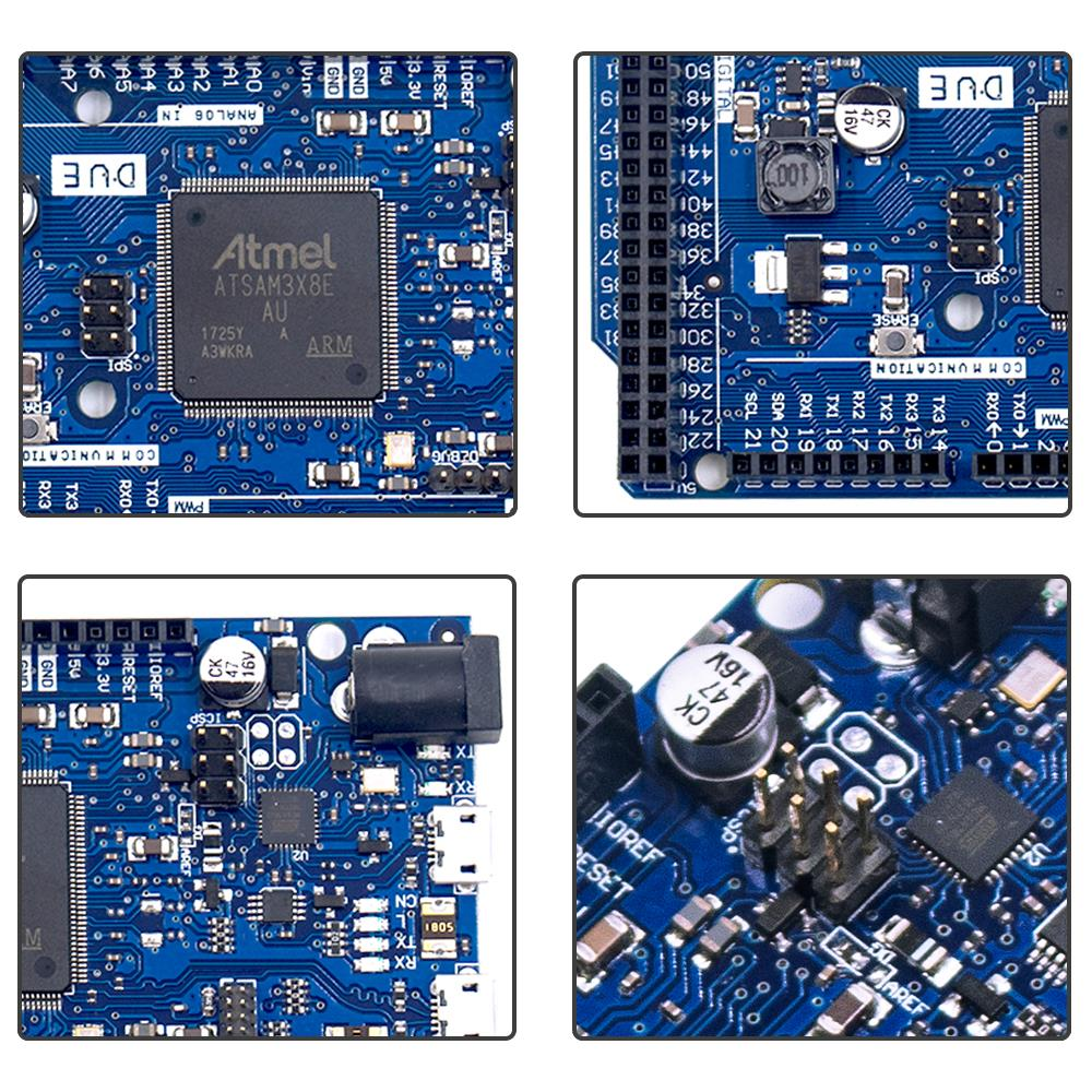 Image 5 - DUE R3 Board SAM3X8E 32 bit ARM Cortex M3 / Mega2560 R3 Duemilanove 2013 For Arduino Due Board With Cable Free Shipping-in Integrated Circuits from Electronic Components & Supplies